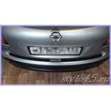 Наклейка на задний бампер для Nissan Qashqai 1