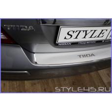 Наклейка на задний бампер для Nissan Tiida 1 Седан. Хетчбек