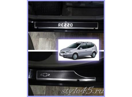 Наклейки на пороги для Chevrolet Rezzo