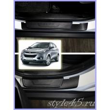 Наклейки на пороги для Hyundai ix35