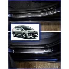 Наклейки на пороги для Peugeot 3008