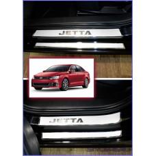 Наклейки на пороги для Volkswagen Jetta